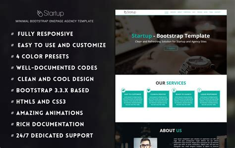 120 Best Free And Premium Bootstrap Website Templates Of 2018 Startup Website Template Free