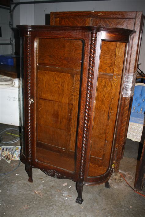beautiful curio cabinet antique redeemed furnishings