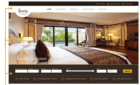 bootstrap templates for hotel management luxury hotel joomla template real estate templates