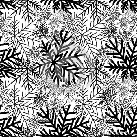 nature pattern black and white abstract snowflakes on white wood winter concept