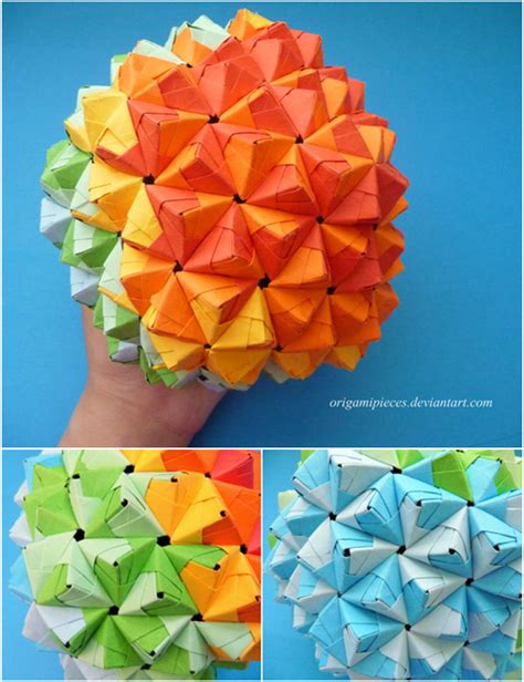 Origami Epcot - origami epcot by origamipieces on deviantart