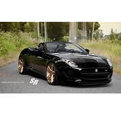 Black Jaguar F Type With Gold Wheels – Bit Too Much