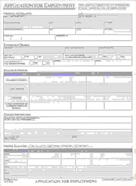 standard application form standard application form printable sle application