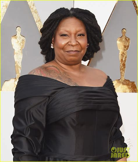 whoopi goldberg tattoo whoopi goldberg shows shoulder at oscars