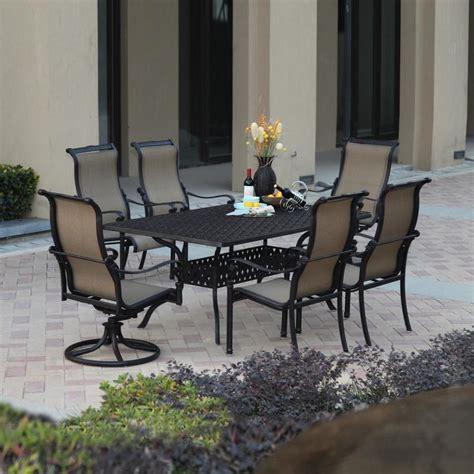 Outdoor Furniture Dining Sets by Shop Darlee Monterey Bay 7 Antique Bronze Aluminum