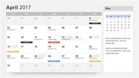 Powerpoint Calendar Template 2017