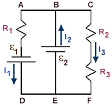 resistor circuit with two batteries physicslab kirchhoff s laws analyzing circuits with two or more batteries
