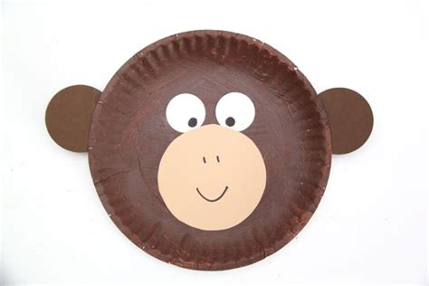 How To Make A Monkey Out Of Paper - curious george inspired paper plate monkey craft smashed