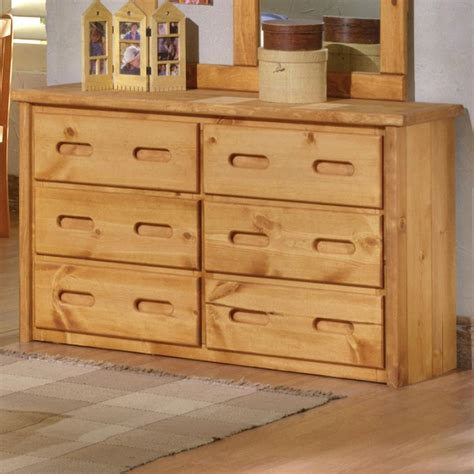 Pine 6 Drawer Dresser 6 Drawer Pine Dresser With Carved Handles By Trendwood Wolf And Gardiner Wolf Furniture
