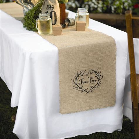 Burlap Table Runners For Wedding by Rustic Wedding Reception Table Runner Burlap