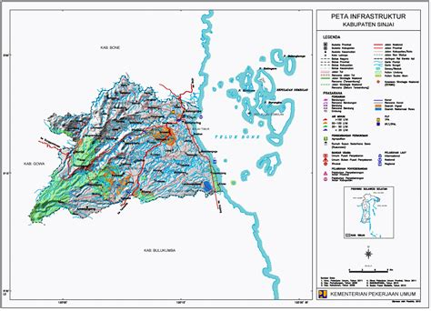 peta kabupaten sinjai