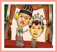 Undangan Pernikahan Kartun Lucu