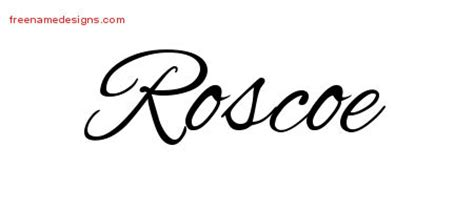 roscoe name cursive name designs archives page 308 of 401 free name designs