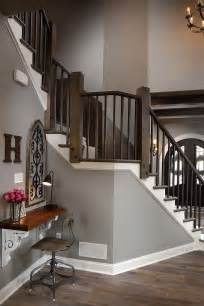 Banister Guest House Wall Paint Color Is Sherwin Williams Acier Sw9170 Trim