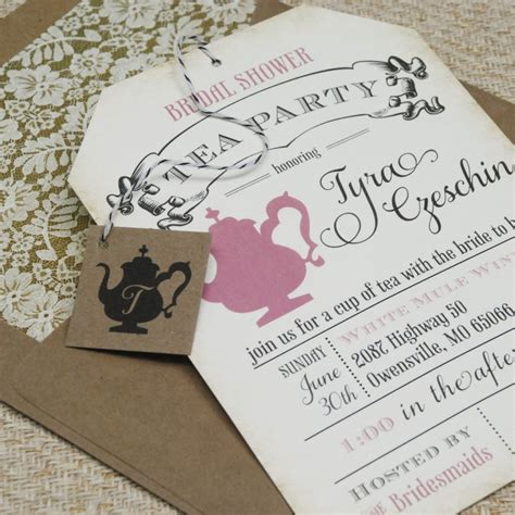 Vintage Tea Bridal Shower Invitations by Vintage Bridal Shower Tea Invitations Invitation Ideas