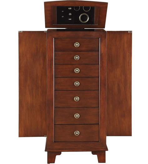 armoire drawers 7 drawer locking jewelry armoire in jewelry armoires