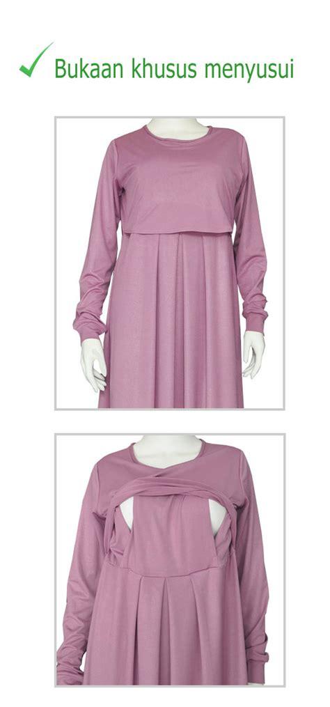 Gamis Cantik Jersey Ibu Menyusui Resleting gamis jersey haifa dengan bukaan menyusui rumah jahit haifa