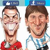 Foto Ronaldo vs Messi Terbaru 2014
