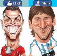 Foto Lucu Cristiano Ronaldo vs Lionel Messi 2014