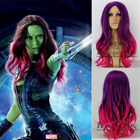 guardians of the galaxy wig gamora 4999 wigs guardians of the galaxy gamora cosplay wig synthetic rose