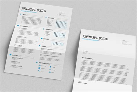 Cover Letter Co Za 25 Best Free Cv Templates Psd Ai Word Docx Rogue Pony