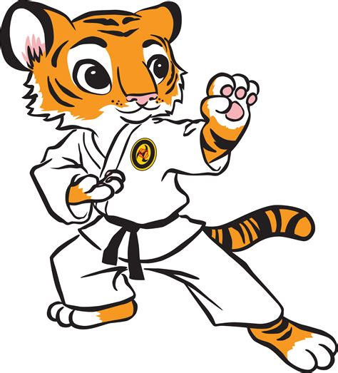 karate clipart martial arts clipart tiger pencil and in color martial