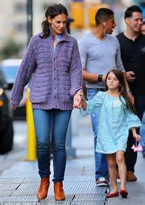 katie holmes relishes in spending the weekend with daughter suri after her very first week of