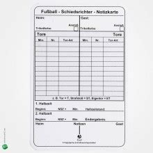 Football Referee Information Card Template by Referee Cards Bestellen