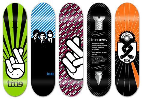 Awesome Skateboard Deck by 30 Cool Vector Illustrated Skateboard Decks