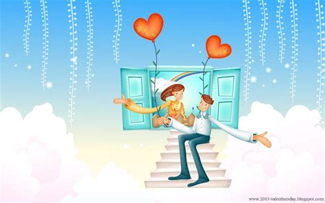 Wallpaper Cartoon Love Hd | cute cartoon couple love hd wallpapers for valentines day
