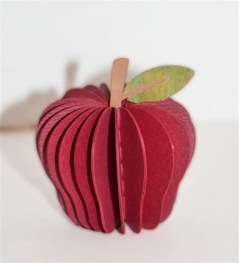 Paper Apple Crafts - paper crafting with nelda simple apple craft for