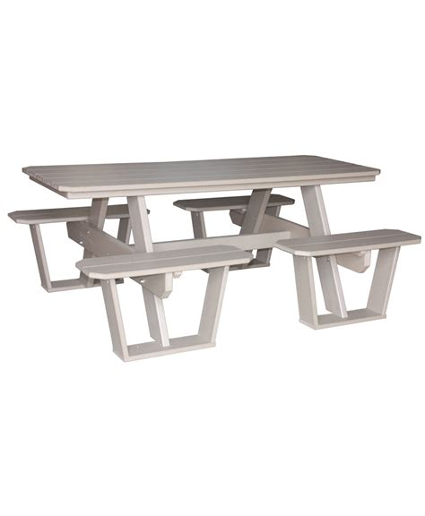 poly split bench picnic table amish direct furniture