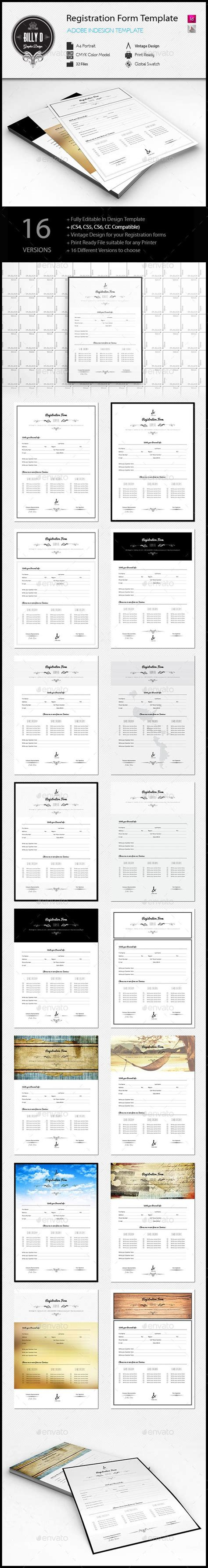 indesign template questionnaire 15 best ideas about registration form on pinterest ui