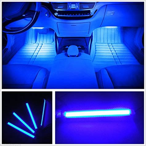 led home interior lights car interior lights ej s car 4pcs 36 led dc 12v waterproof atmosphere neon lights