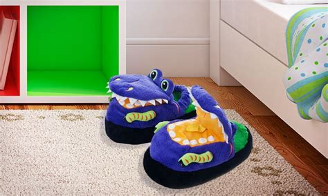 slippeez slippers silly slippeez glow in the slippers groupon