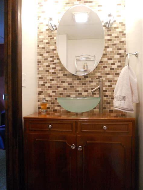 bathroom sink tile glass tile vessel sink bathroom bathroom sink tile