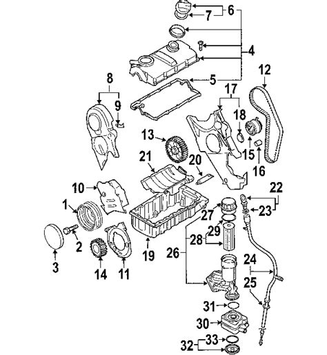 vw jetta parts diagram parts 174 volkswagen cover partnumber 038105278a