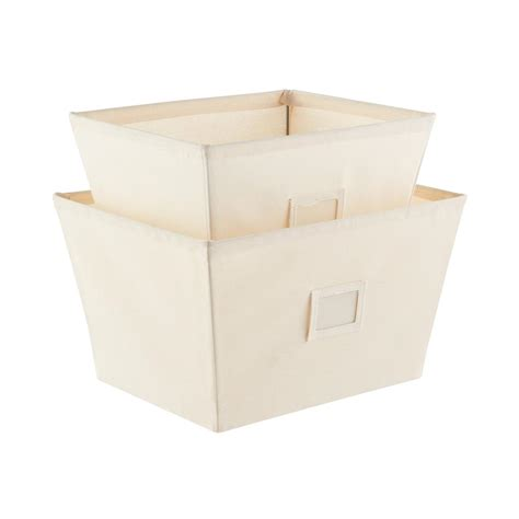 canvas storage bins fabric storage bins natural open canvas storage bins