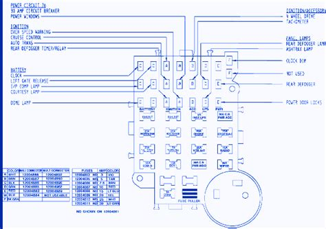 gmc   fuse boxblock circuit breaker diagram carfusebox