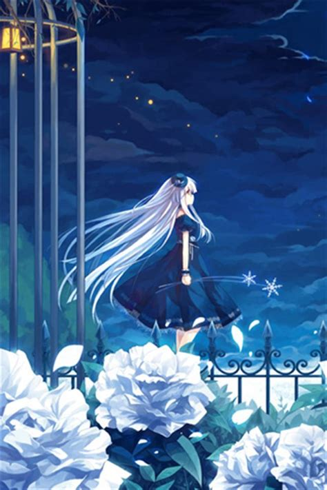 wallpaper hd anime iphone 4 blue anime hd iphone wallpapers iphone 5 s 4 s 3g