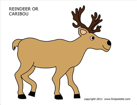 caribou color caribou or reindeer free printable templates coloring