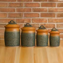 Pottery Kitchen Canister Sets by Stoneware Canister Set Kitchen Storage Jars Uncommongoods