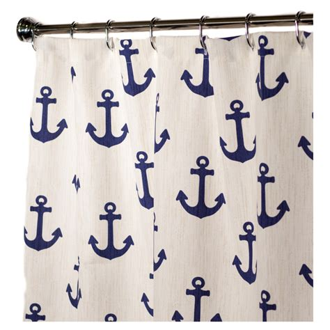 shower curtain anchor nautical shower curtains for bathroom decor