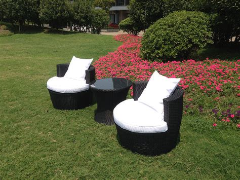 rattan effect egg patio furniture set modern patio outdoor