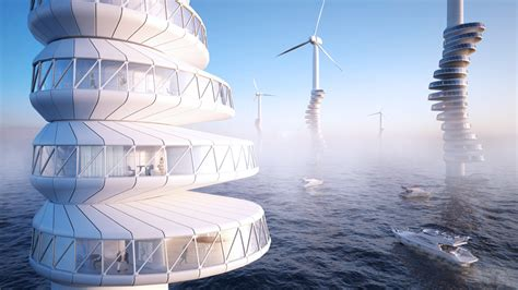 wind architecture high rise apartments wrapped around wind turbines are the