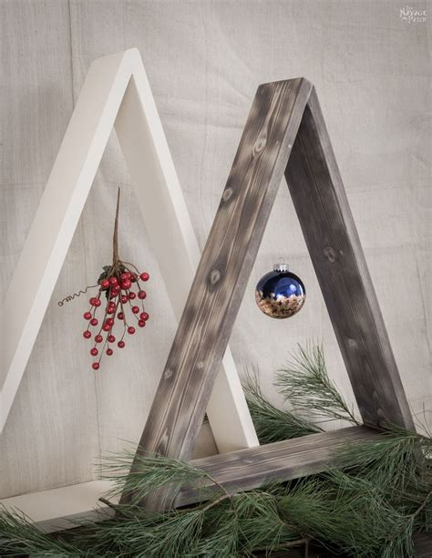 diy wooden minimalist christmas tree  navage patch