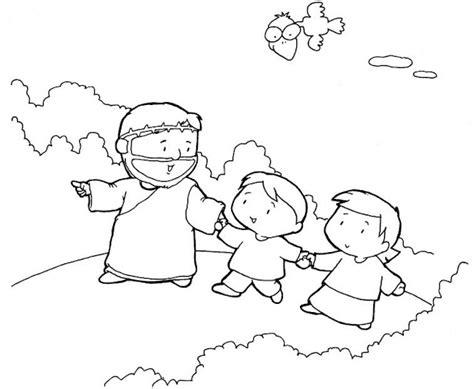 imagenes para colorear jesus y los niños dibujos para pintar de la biblia 2012 comunidad pascual
