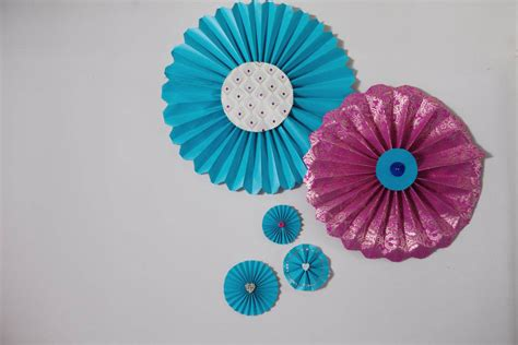 diy tutorial pretty paper fans 183 rock n roll