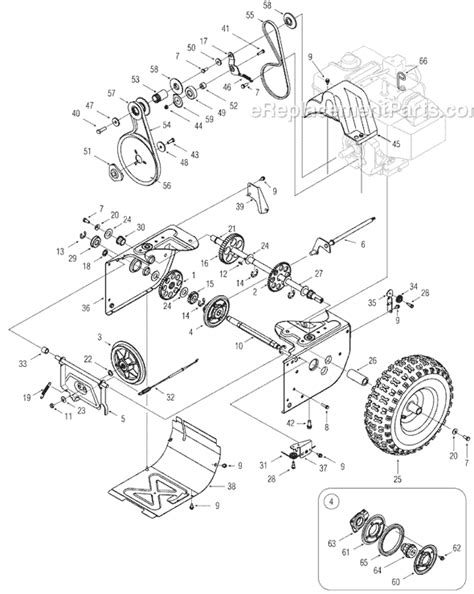 mtd yard machine parts diagram mtd 31ae6glf722 parts list and diagram 2005