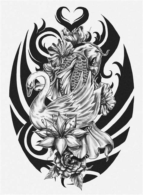 koi and flower tattoo designs koi ideas and koi designs page 5
